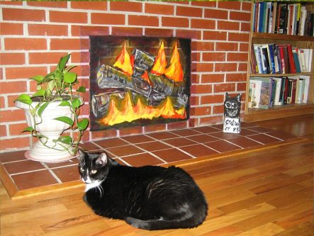 fireplace-with-kitty